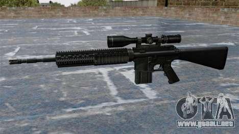 Rifle de francotirador Armalite AR-10 para GTA 4 tercera pantalla