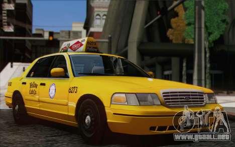Ford Crown Victoria LA Taxi para GTA San Andreas vista posterior izquierda