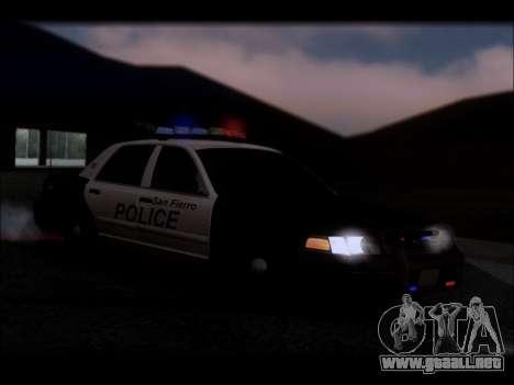 Ford Crown Victoria 2005 Police para GTA San Andreas interior