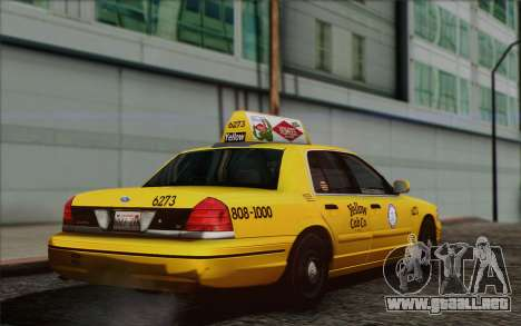 Ford Crown Victoria LA Taxi para GTA San Andreas left