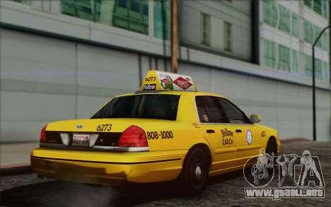 Ford Crown Victoria LA Taxi para GTA San Andreas left