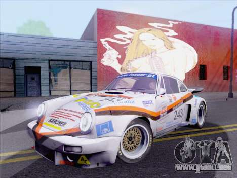Porsche 911 RSR 3.3 skinpack 5 para GTA San Andreas vista posterior izquierda