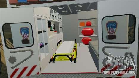 Ford F-350 2013 FDNY Ambulance [ELS] para GTA 4 vista hacia atrás