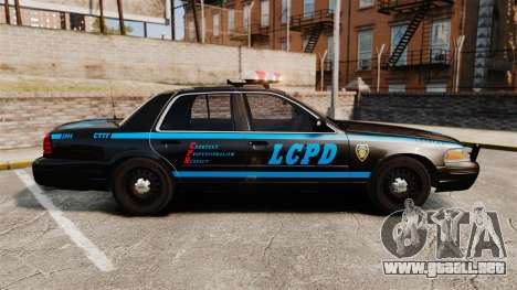 Ford Crown Victoria 1999 LCPD para GTA 4 left