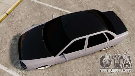 Vaz-2170 Lada Priora Turbo para GTA 4 visión correcta