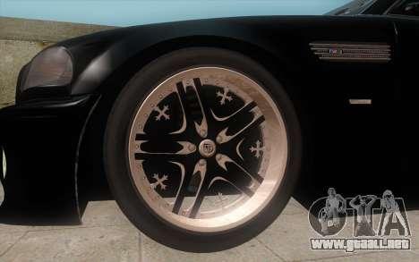 BMW M3 e46 Duocolor Edit para GTA San Andreas vista posterior izquierda