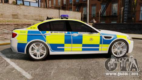 BMW M5 Marked Police [ELS] para GTA 4 left