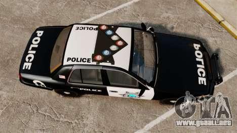 Ford Crown Victoria Liberty State Police para GTA 4 visión correcta
