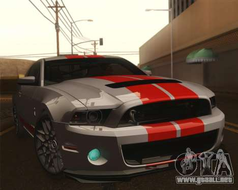 Ford Shelby GT500 2013 para la vista superior GTA San Andreas