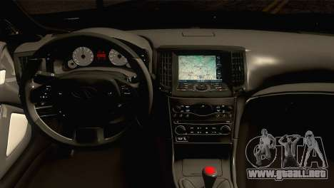 Infiniti G37 para la visión correcta GTA San Andreas