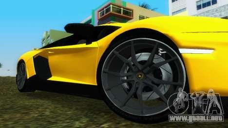 Lamborghini Aventador LP720-4 50th Anniversario para GTA Vice City visión correcta
