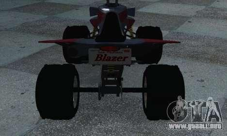 GTA 5 Blazer ATV para GTA San Andreas vista posterior izquierda