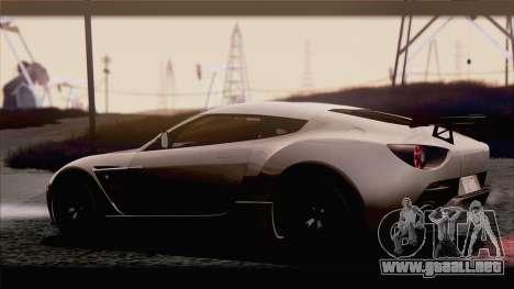 Aston Martin V12 Zagato 2012 [IVF] para la visión correcta GTA San Andreas