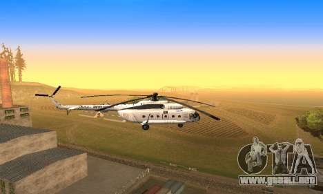 MI 8 ONU (Naciones Unidas) para GTA San Andreas vista hacia atrás