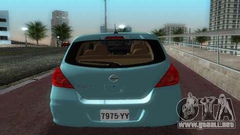 Nissan Tiida para GTA Vice City visión correcta