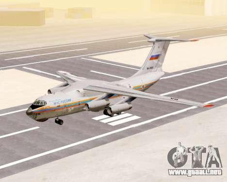 Il-76td EMERCOM de Rusia para GTA San Andreas left