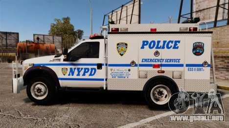 Ford F-550 2012 NYPD [ELS] para GTA 4 left