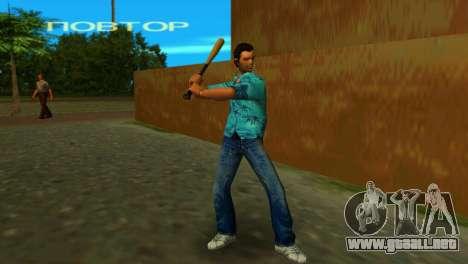 Bate de béisbol de GTA IV para GTA Vice City tercera pantalla