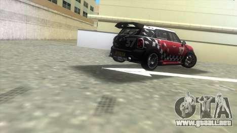 Mini Countryman WRC para GTA Vice City vista lateral izquierdo
