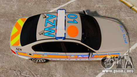 BMW 330 Metropolitan Police [ELS] para GTA 4 visión correcta