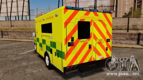 Mercedes-Benz Sprinter [ELS] London Ambulance para GTA 4 Vista posterior izquierda