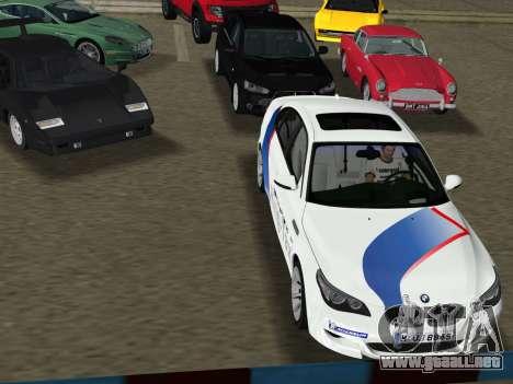BMW M5 (E60) 2009 Nurburgring Ring Taxi para GTA Vice City visión correcta