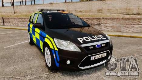 Ford Focus Estate 2009 Police England [ELS] para GTA 4
