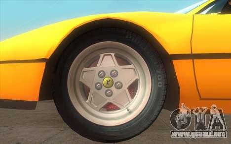 Ferrari 328 GTB para GTA San Andreas vista posterior izquierda