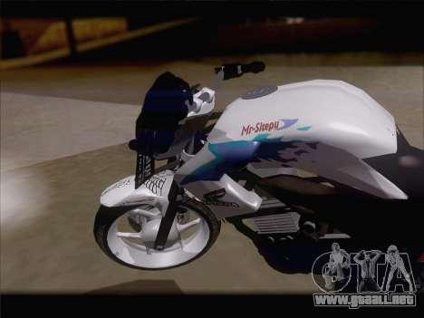 Honda CB150R StreetFire para la visión correcta GTA San Andreas