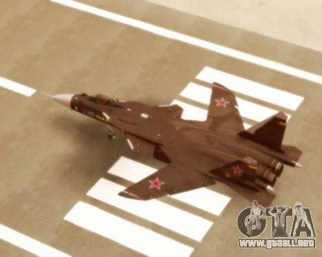 Su-47 Berkut v1.0 para la visión correcta GTA San Andreas