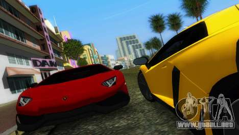 Lamborghini Aventador LP720-4 50th Anniversario para GTA Vice City vista posterior