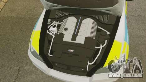 BMW X5 Police [ELS] para GTA 4 vista interior