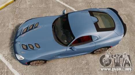 Dodge Viper SRT TA 2014 Rebuild para GTA 4 visión correcta