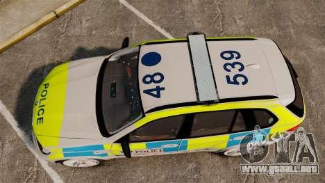 BMW X5 Police [ELS] para GTA 4 visión correcta