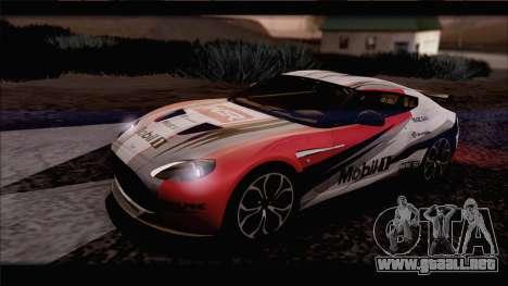 Aston Martin V12 Zagato 2012 [IVF] para visión interna GTA San Andreas