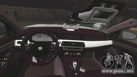BMW M5 Marked Police [ELS] para GTA 4 vista lateral