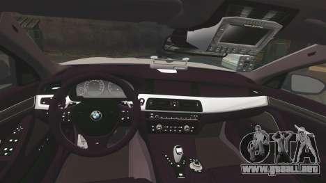 BMW M5 West Midlands Fire Service [ELS] para GTA 4 vista lateral