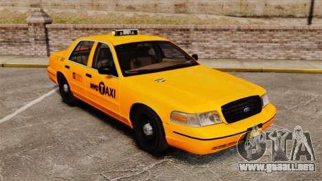 Ford Crown Victoria 1999 NYC Taxi para GTA 4 vista interior