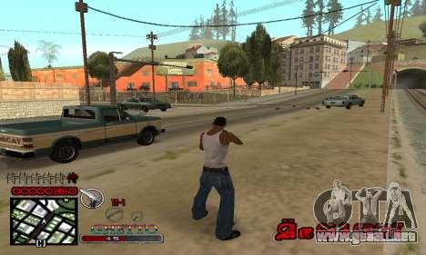 C-HUD Getto Jonka para GTA San Andreas tercera pantalla
