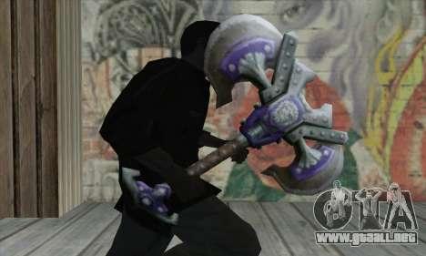 Hacha de World of Warcraft para GTA San Andreas tercera pantalla