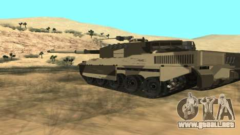 GTA V Rhino para GTA San Andreas vista posterior izquierda