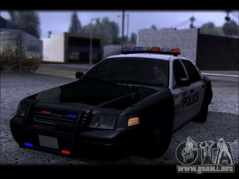 Ford Crown Victoria 2005 Police para vista lateral GTA San Andreas