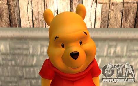 Winnie The Pooh para GTA San Andreas tercera pantalla