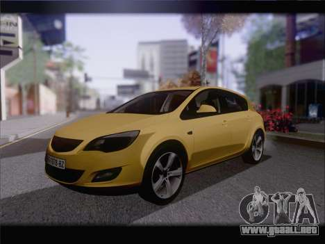 Opel Astra J 2011 para GTA San Andreas vista posterior izquierda