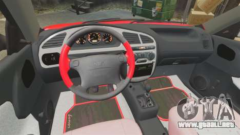 FSO Lanos Plus 2007 Limited Version para GTA 4 vista interior