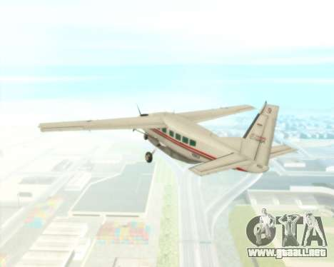Cessna 208B Grand Caravan para vista lateral GTA San Andreas