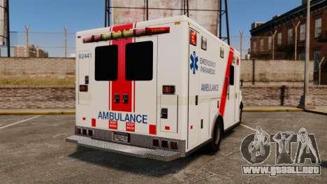 Brute B.C. Ambulance Service [ELS] para GTA 4 Vista posterior izquierda