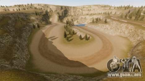 Cliffside ubicación Rally para GTA 4 tercera pantalla