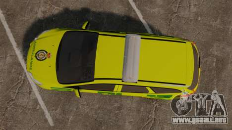 Ford Focus ST Estate 2012 [ELS] London Ambulance para GTA 4 visión correcta
