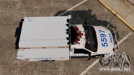 Ford F-550 2012 NYPD [ELS] para GTA 4 visión correcta